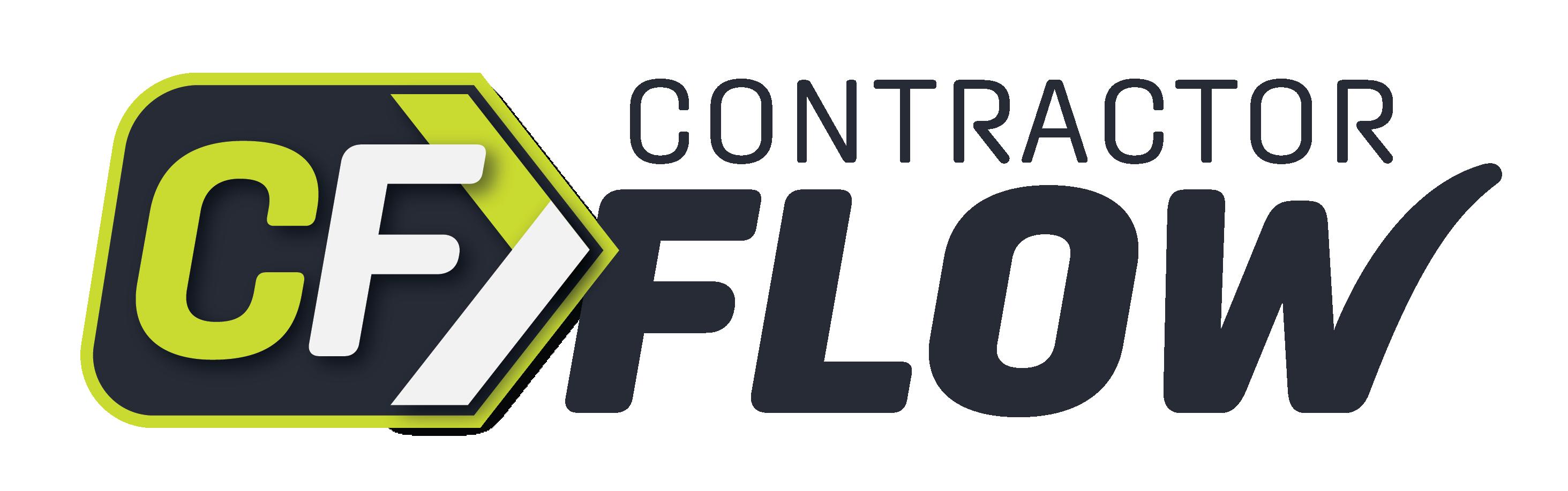 ContractorFlow White Logo